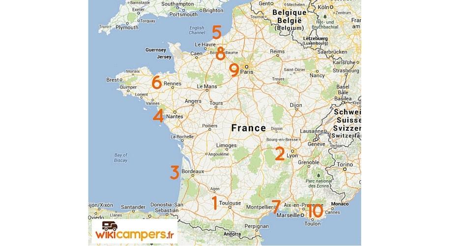 villes-les-plus-recherchees-pour-la-location-de-camping-car-en-France