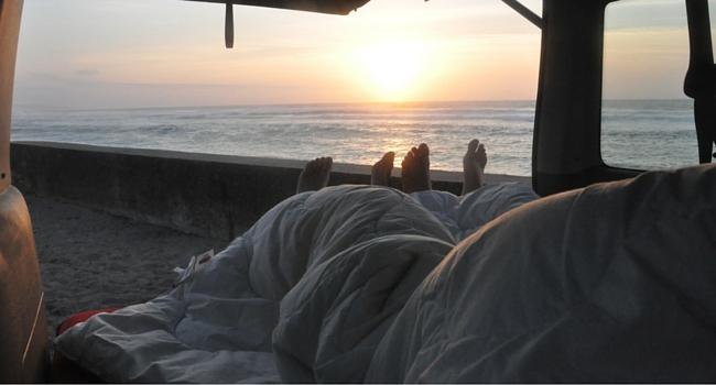 Réveil en camping-car