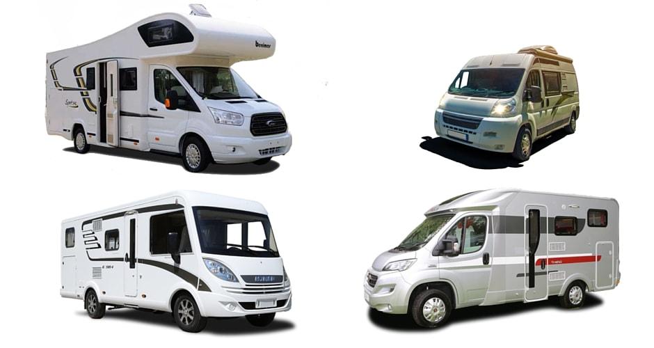 Differents types de camping car