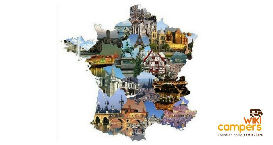 Top 5 des régions françaises en camping-car