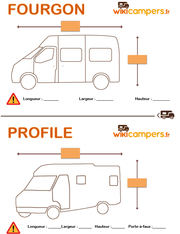 mensuration camper fourgon et profile