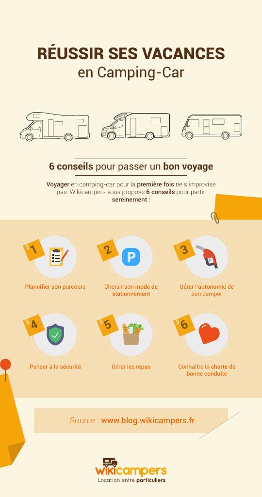 6 conseils pour réussir vos vacances en camping-car_Infographie
