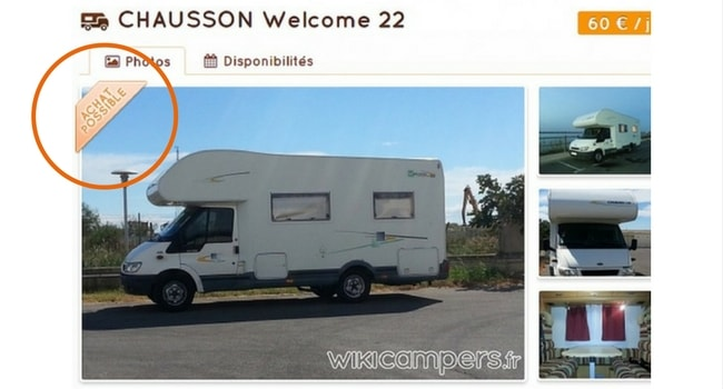 vendre camping-car wikicampers