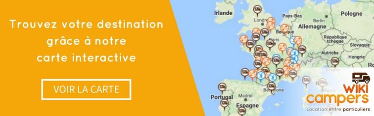Trouvez votre destination grâce à notre carte intéractive