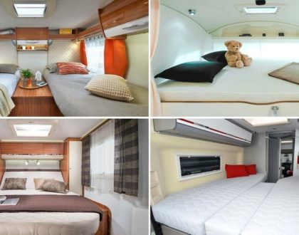 differents types de lit camping-car couchages