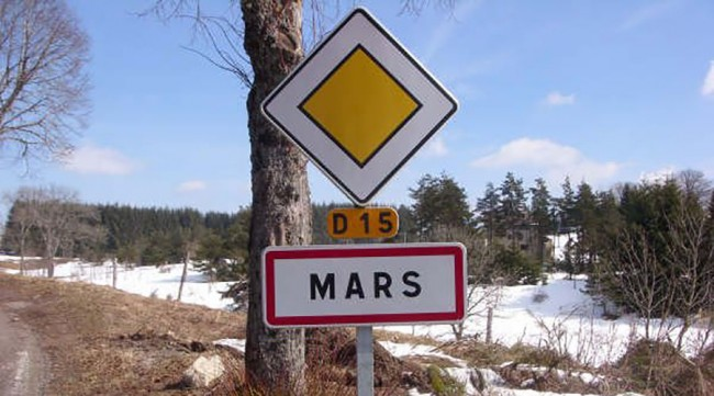 panneau entree agglomeration a mars