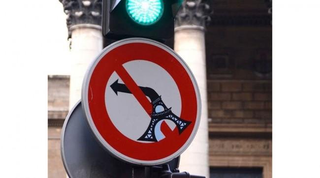 panneau insolite signalisation paris