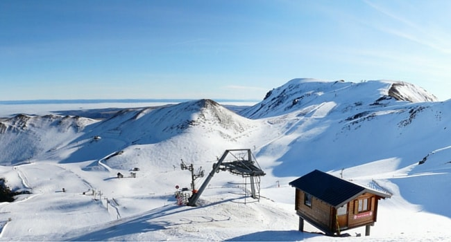 Ski dans le Massif Central en camping-car station Chastreix Sancy