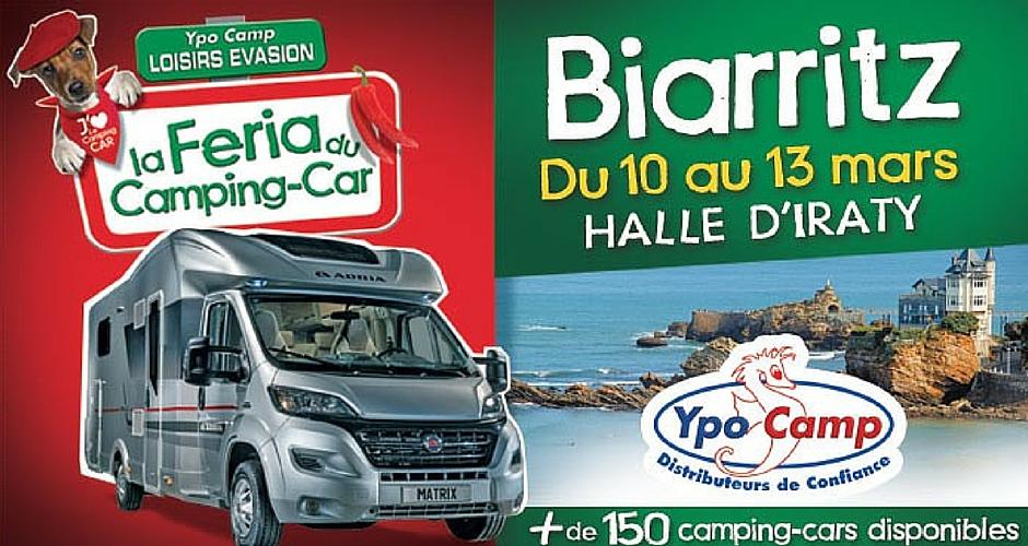Affiche Feria du camping-car Biarritz