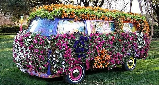 Combi VW Fleuri customisé