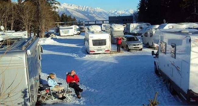 Le ski et l'Europe en camping-car