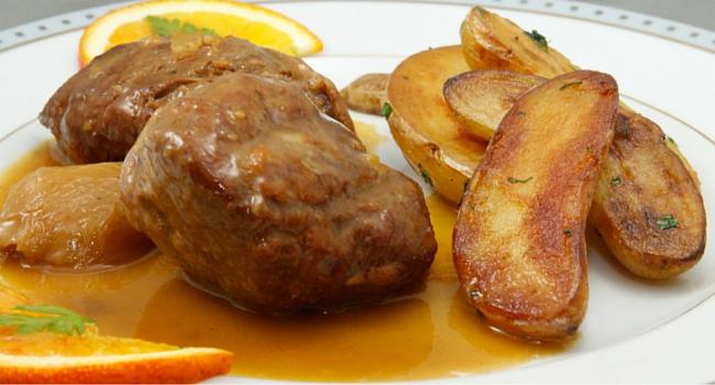 médaillon porc échalotte orange JB Gastronomie cuisine camping-car