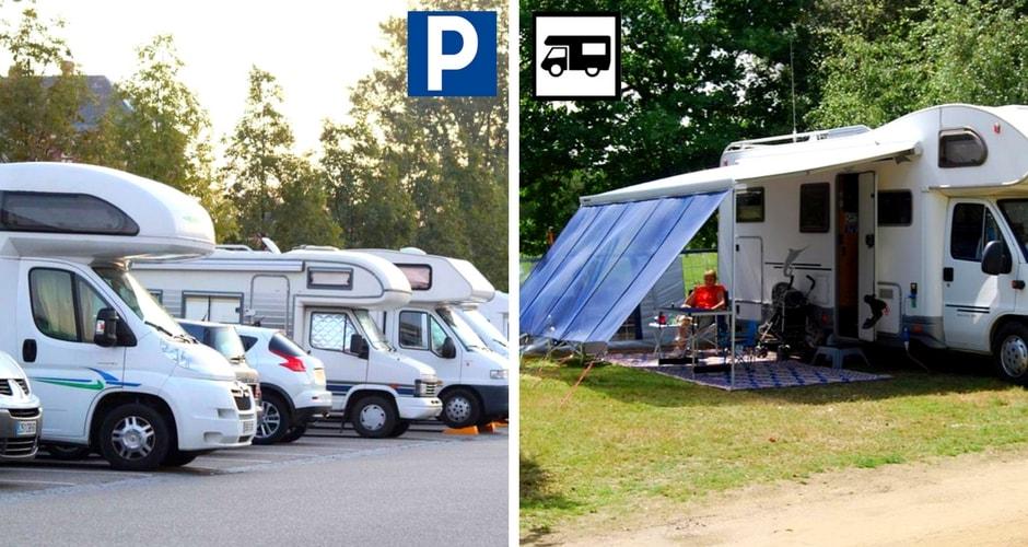 Stationner et camper en camping-car