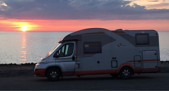 camping-car et velo