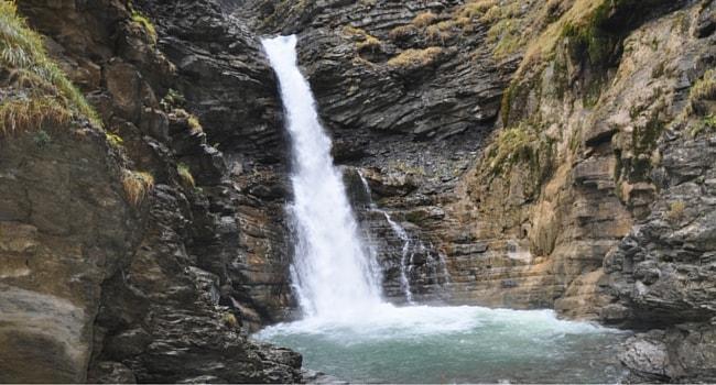 Cascade de Lance Colmars campingcar