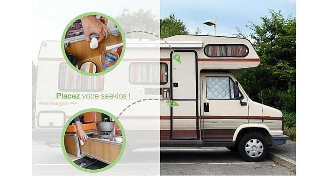 Balise Seekios camping-car