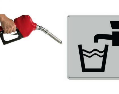essence dans le reservoir deau