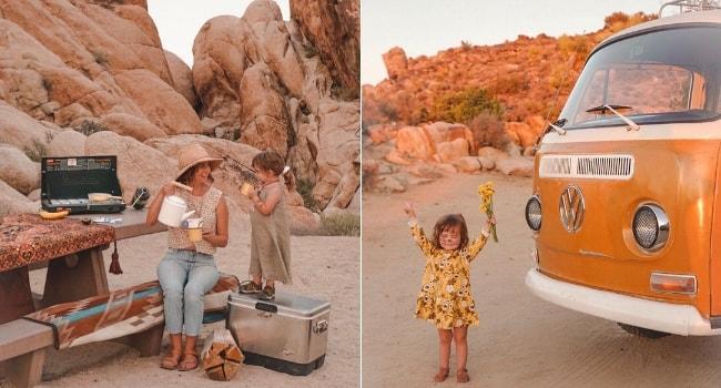 enfants en camping-car