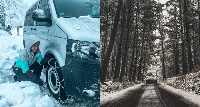 Conduite sur neige en camping-car_Bases