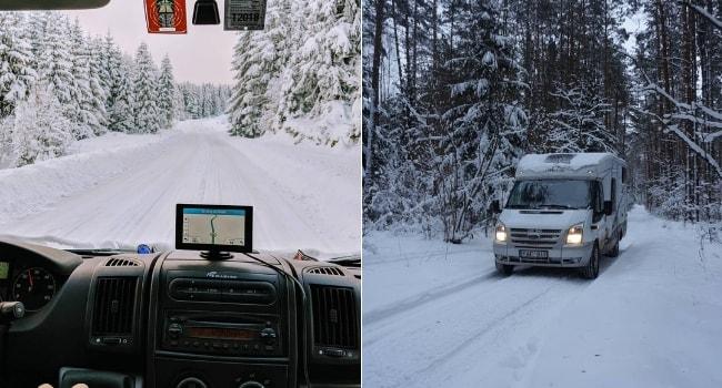 Conduite sur neige en camping-car_Pratique