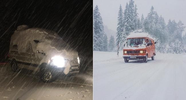Conduite sur neige en camping-car_Tempêtes