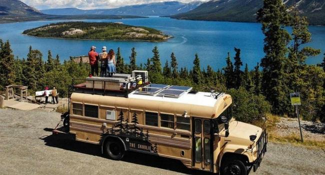 bus amenage rooftop