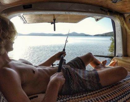 camping-car et pêche