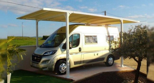 garage camping-car alu