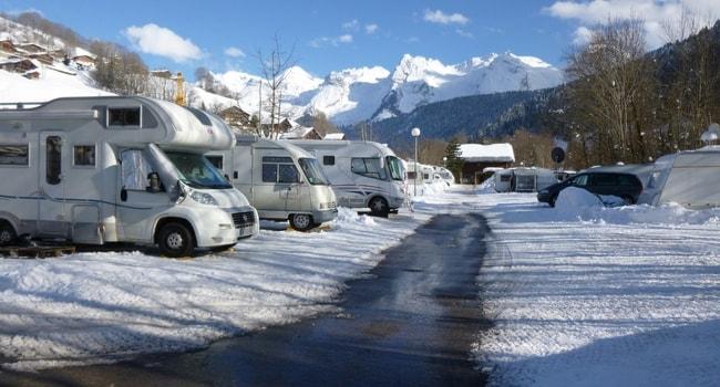 voyage en hiver en camping-car