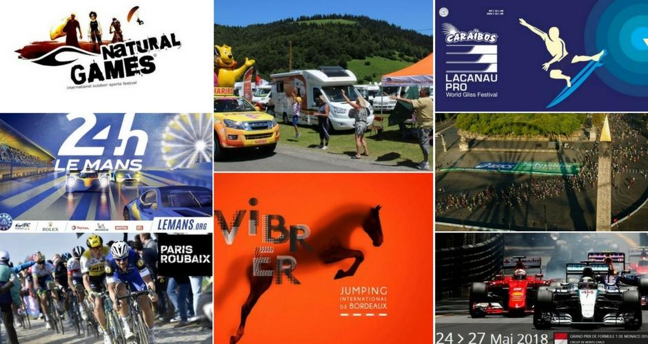 Les évènements sportifs à faire en camping-car en 2018