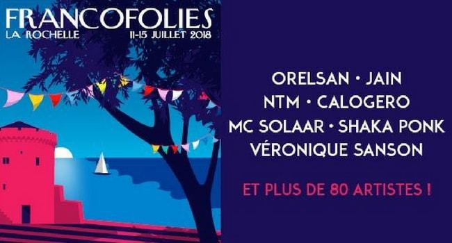 Les évènements musicaux à faire en camping-car en 2018_Francofolies