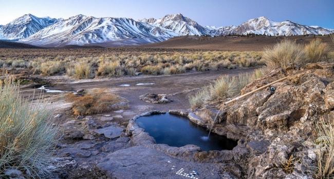Mammoth Lakes, California, source d'eau chaude