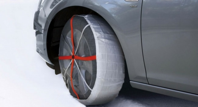 chaussette neige camping-car