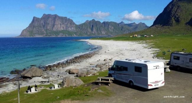 Uttakleivveien norvege camping-car
