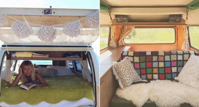 Idées de décoration intérieure pour votre camping-car_Shabby-Boho-Hippie
