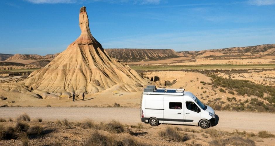desert des bardenas en camping-car