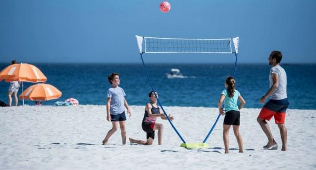 volley en plein air