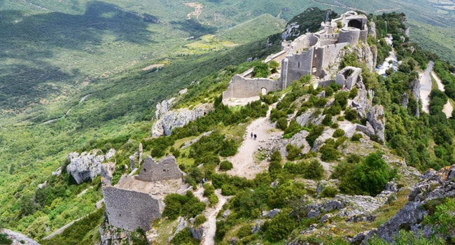 Le Pays Cathare en camping-car_Peyrepertuse
