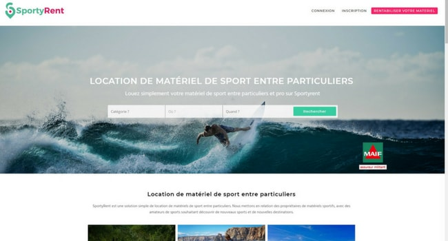 Sporty rent startup sport