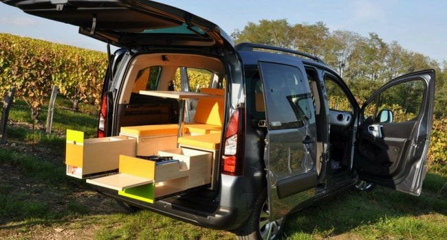 camp in box amenager voiture