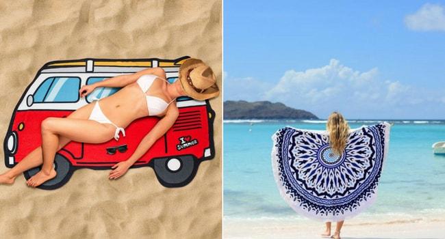 serviette de plage originale
