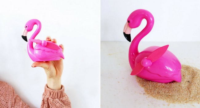 ventilateur flamant rose