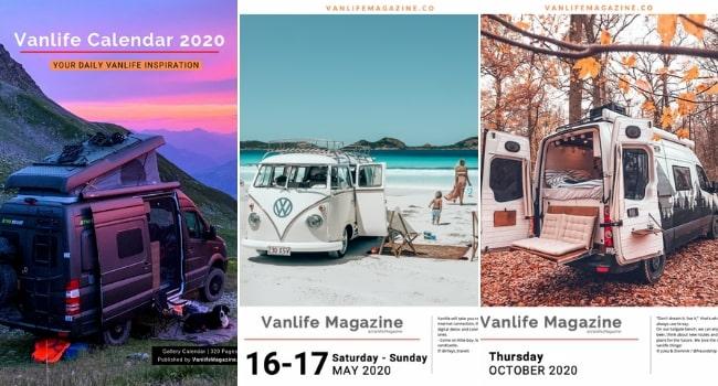 Idées cadeaux camping-cars_Calendrier-Vanlife-2020