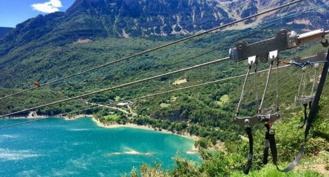 L'Aragon en camping-car_Vallée de Tena en tyrolienne