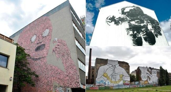 Street Art à Berlin_Œuvres de Blu et Victor Ash à Kreuzberg