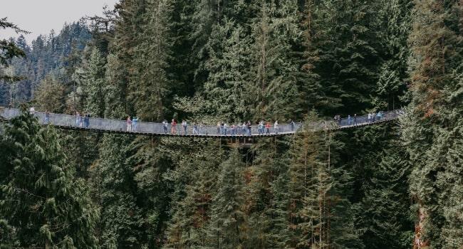 L'Ouest canadien en camping-car_pont suspendu de Capilano