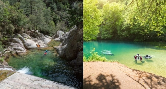 baignade-sauvage-piscine-naturelle-cascades de-purcaraccia-gouffre-de-saint-sauveur