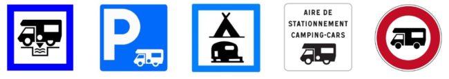 panneaux signalisation aire camping car