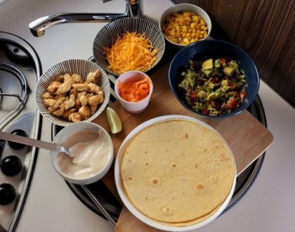 Recette en camping-car : Tacos mexicains au poulet