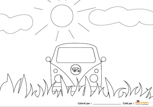 Coloriage Wikicampers Combi VW